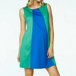 Turquoise and Blue Tent Dress for Maternity Wear